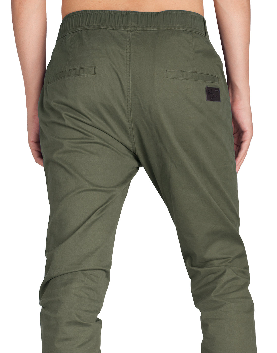 Man Biker Jogger Pants Army Green - italymorn