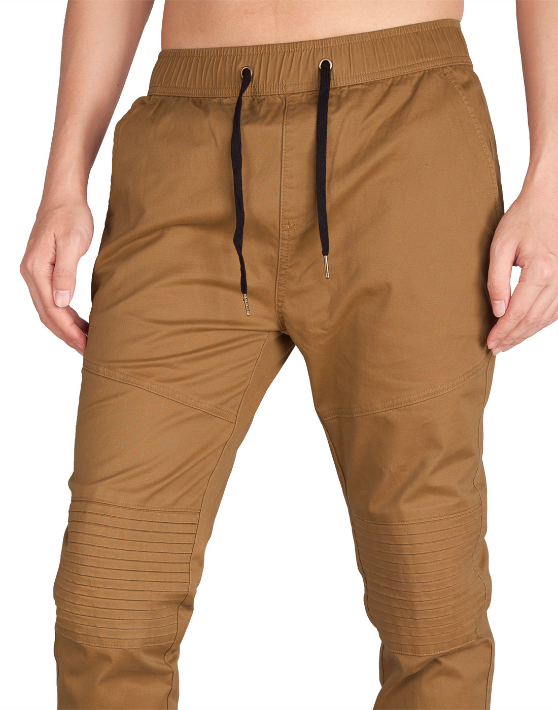 Man Biker Skateboard Jogger Pants Brown - italymorn