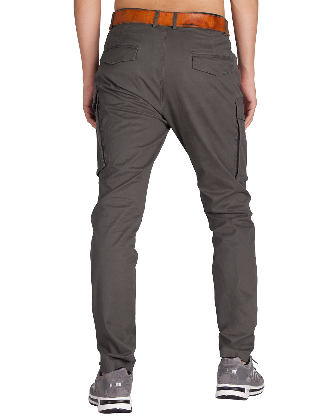 Man Cargo Pants Dark Grey - italymorn
