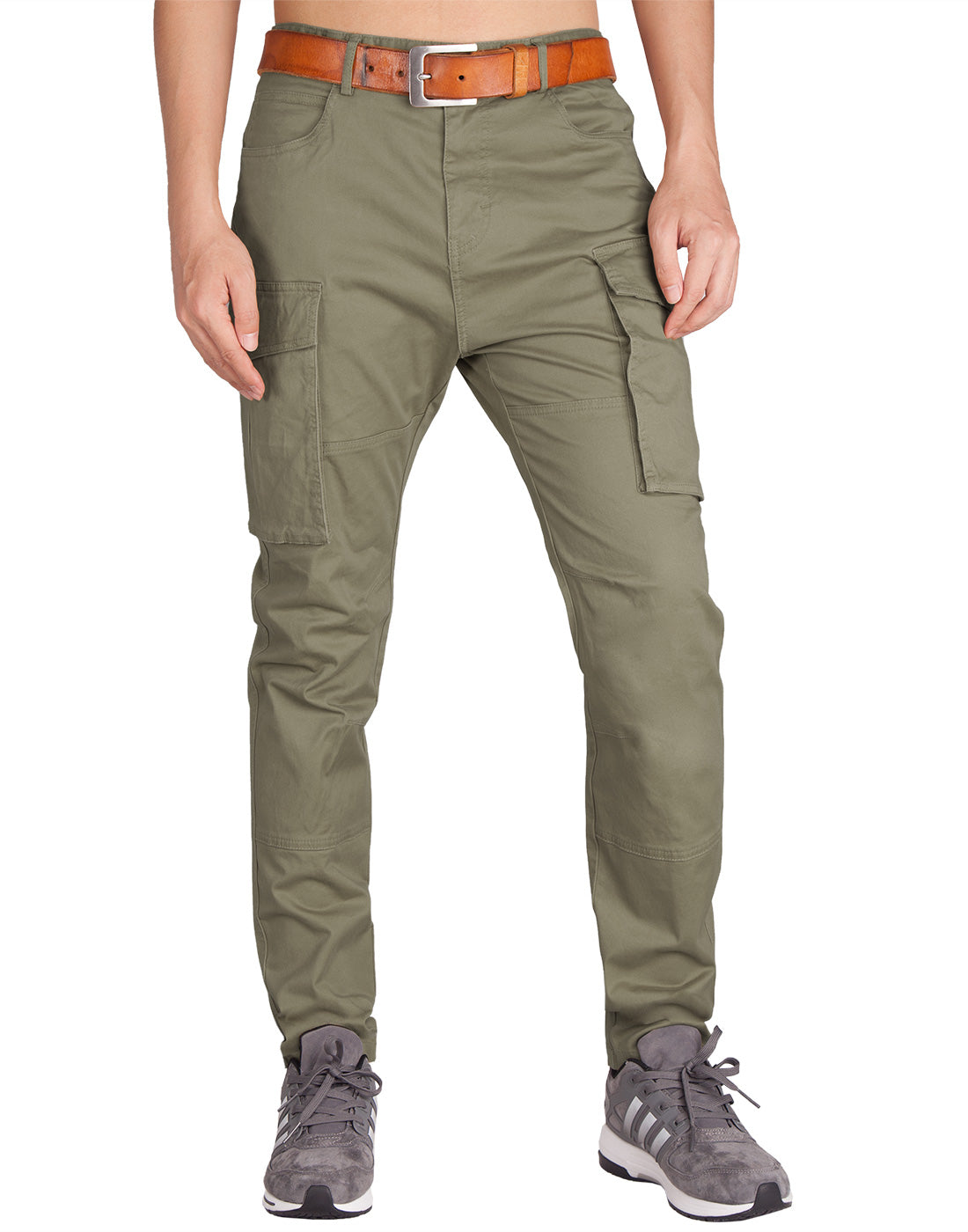 Man Cargo Pants Grey Green - italymorn