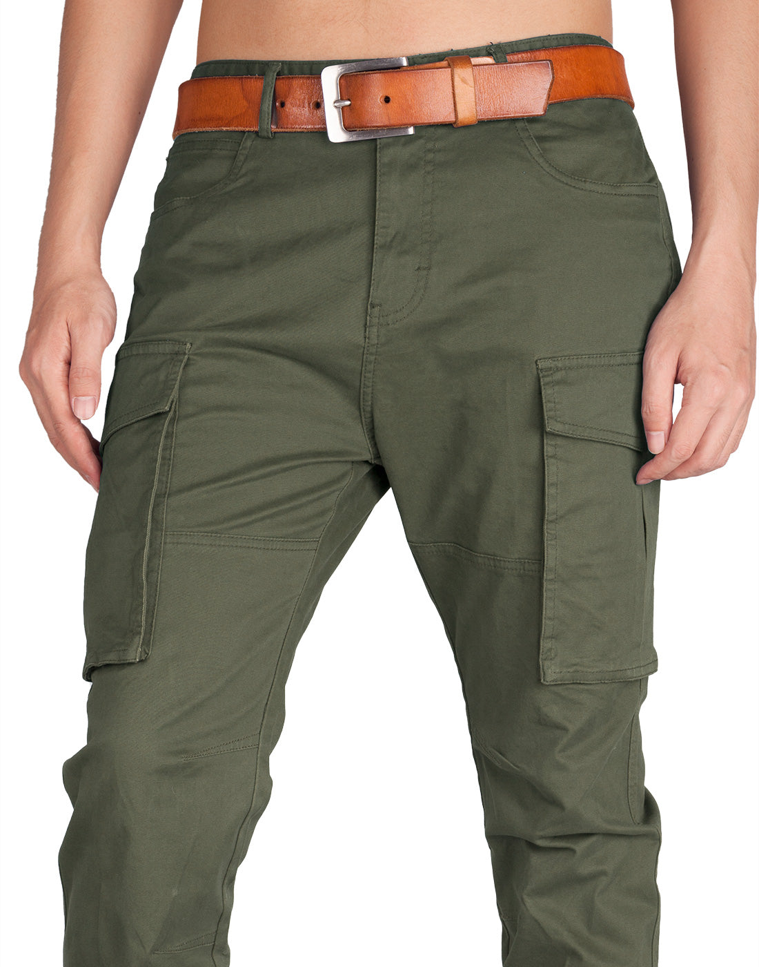 Man Cargo Pants Army Green - italymorn