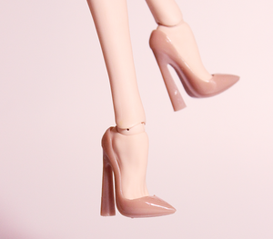 Basic Point Pumps - Thick Heel