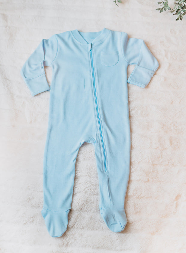 Buy High quality Organic Cotton Footed Zipper Onesie - Baby and Sunshine