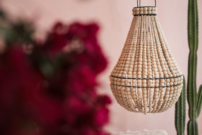 Natural Beaded Chandelier