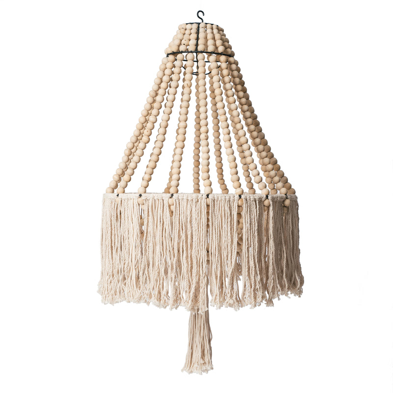 Natural Fringe Beaded Chandelier