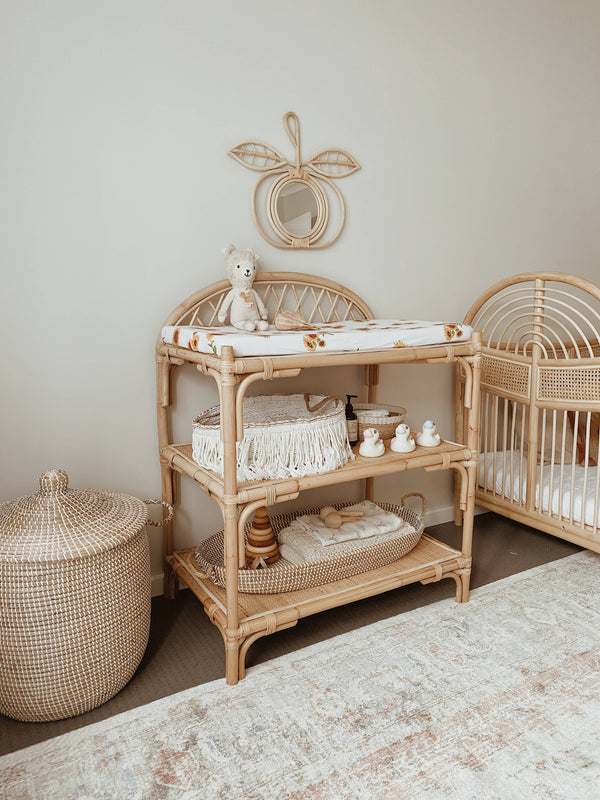 Rattan Baby Changing Table
