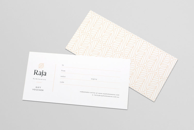 Raja Homewares Gift Voucher