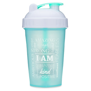 I Am Mint/White on Performa 20oz Shaker Bottle