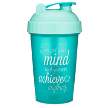 Load image into Gallery viewer, Achieve Anything Teal on Performa 20oz Shaker Bottle
