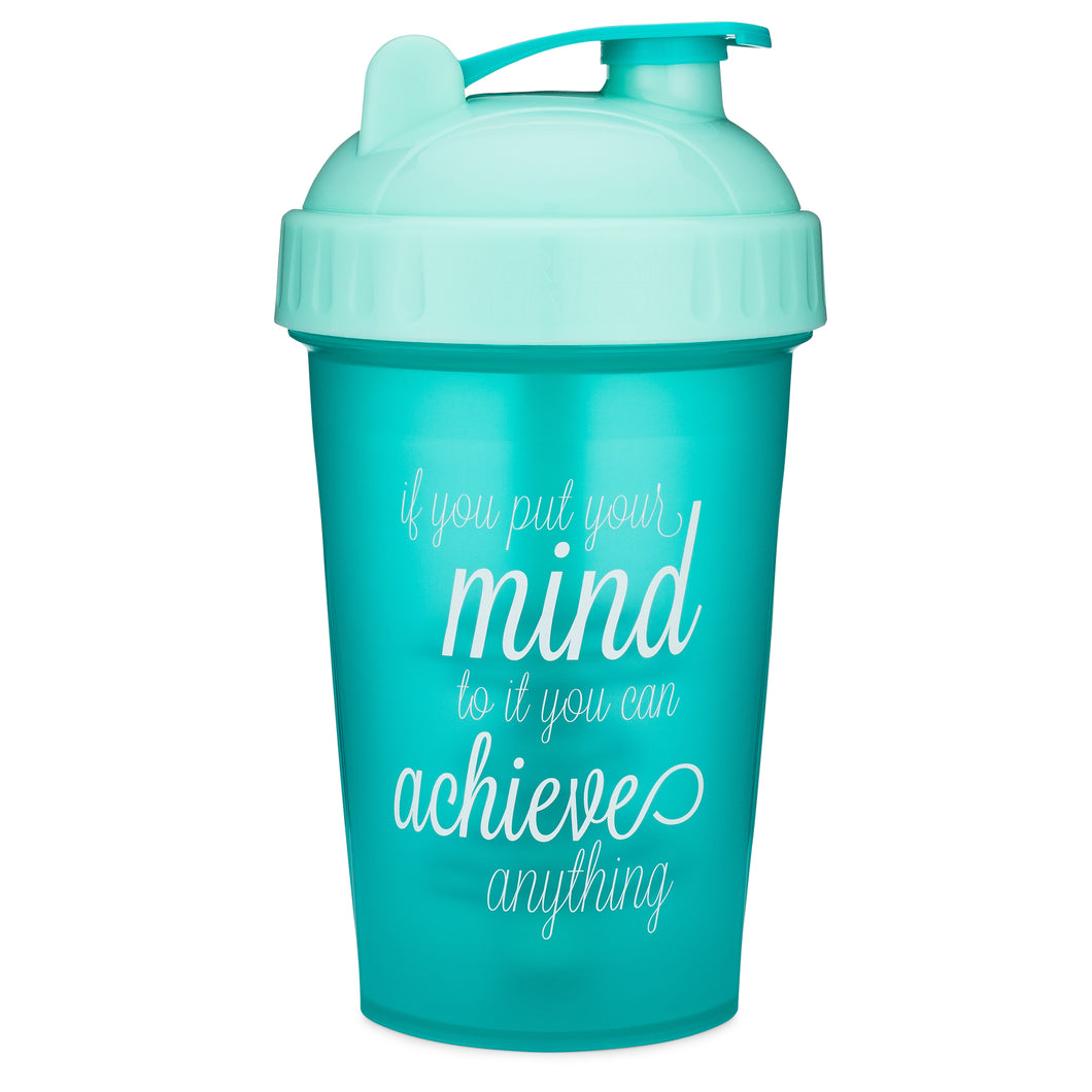 Achieve Anything Teal on Performa 20oz Shaker Bottle