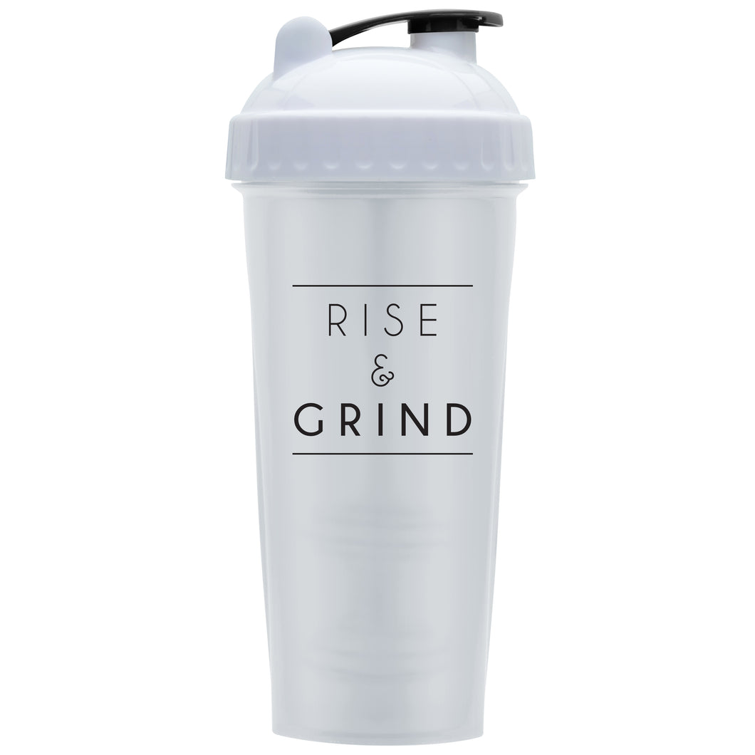 Rise & Grind White on Performa 28oz Shaker Bottle