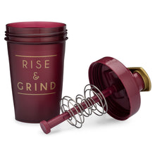 Load image into Gallery viewer, Rise & Grind Maroon on Performa 20oz Activ Shaker