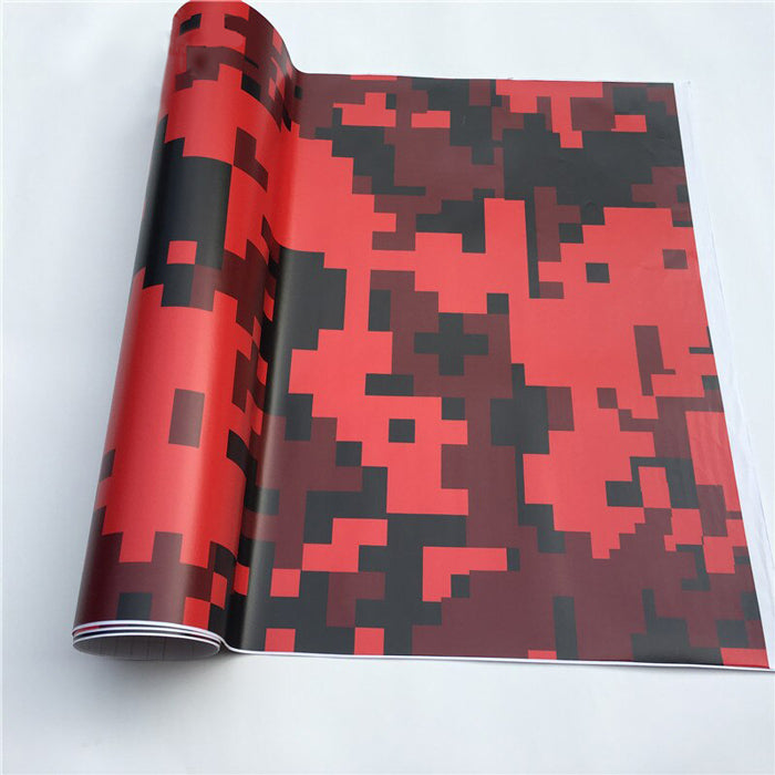 "Covering Camouflage Digital ""Rouge""-PASSION MILITAIRE™"