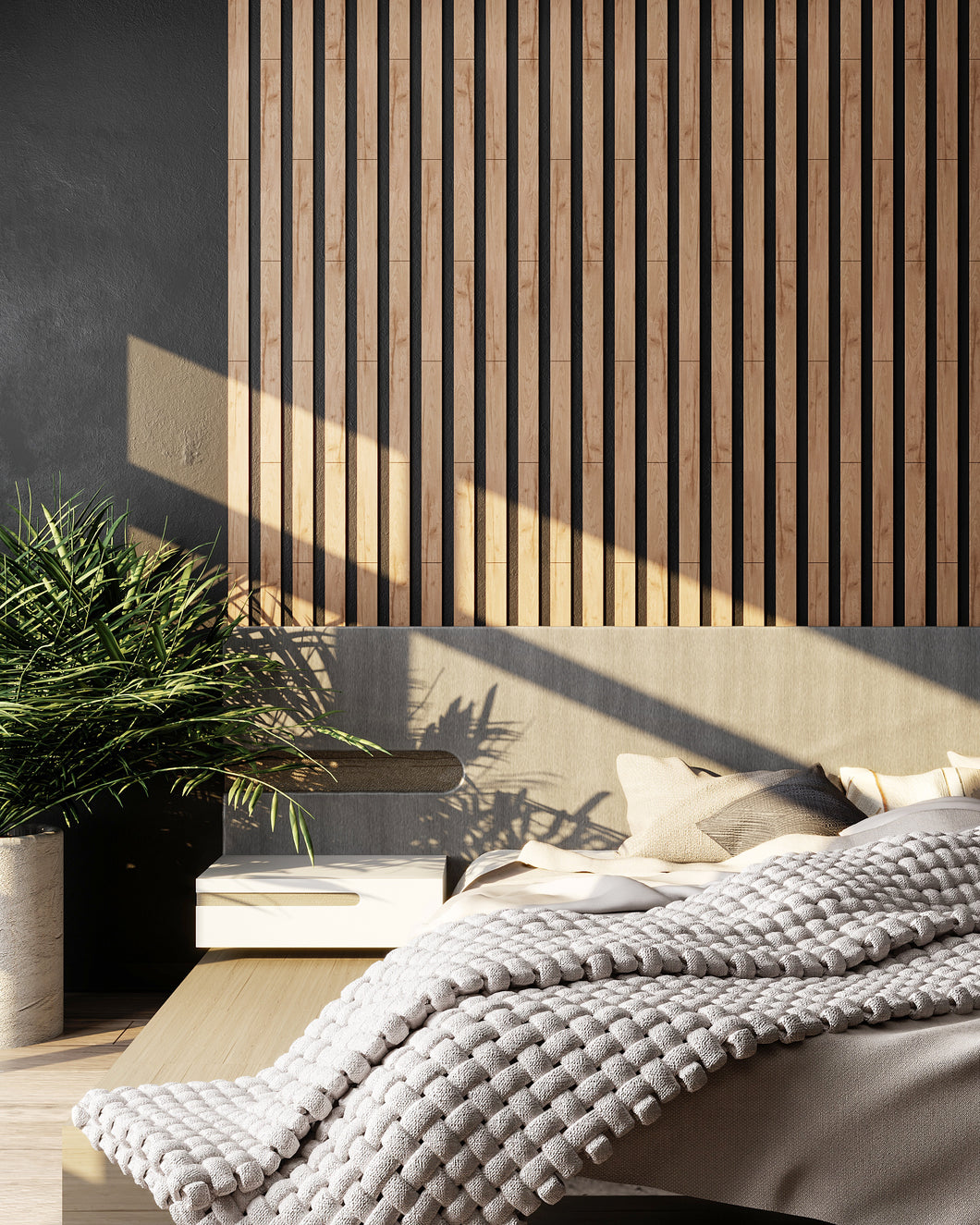 Wide Oak Wooden Wall Slats (Yellow)