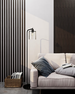 Narrow Wenge Wooden Wall Slats (Black)