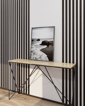 Load image into Gallery viewer, Narrow Wenge Wooden Wall Slats (Black)