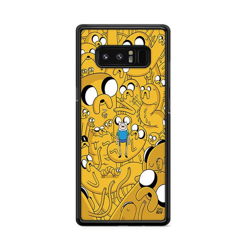 Yellow Adventure Time Samsung Galaxy Note 8 HÜLLE