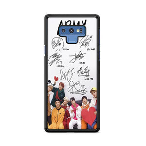 Army BTS Signature Samsung Galaxy Note 9 HÜLLE