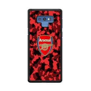 Arsenal FC Red Camo Camouflage Samsung Galaxy Note 9 HÜLLE