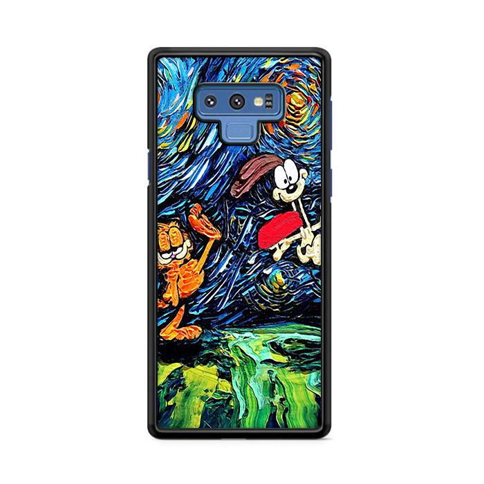 Garfield Starry Night Samsung Galaxy Note 9 HÜLLE