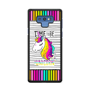 Time To Be A Unicorn Colorful Samsung Galaxy Note 9 HÜLLE