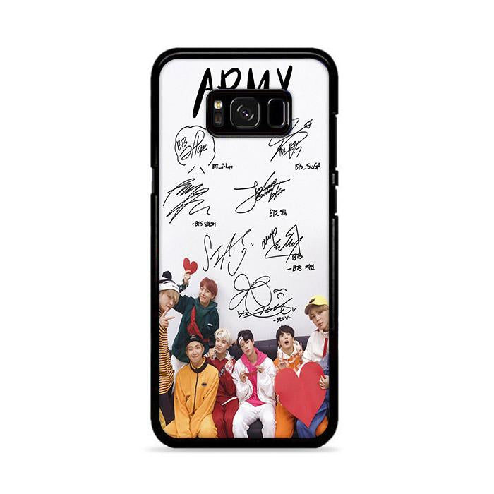 Army BTS Signature Samsung Galaxy S8 HÜLLE