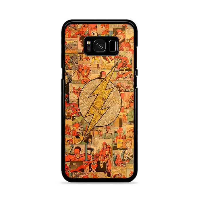 Classic The Flash Comic Collage Samsung Galaxy S8 HÜLLE