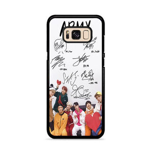 Army BTS Signature Samsung Galaxy S8 Plus HÜLLE