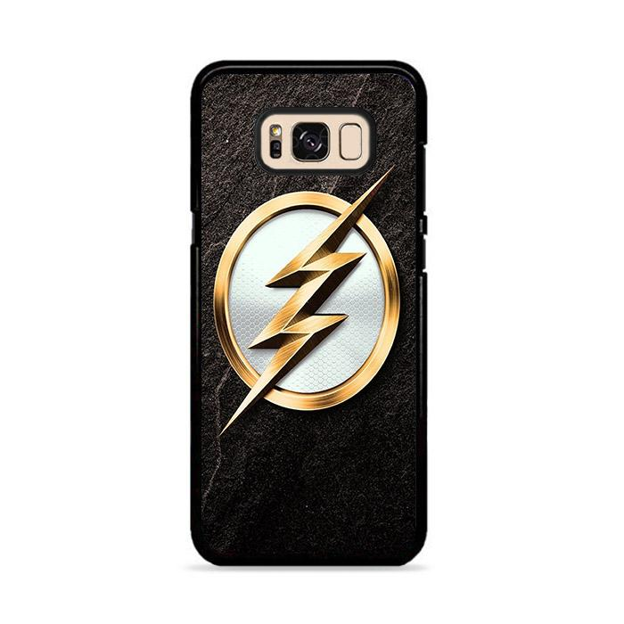 The Flash Gold Logo Samsung Galaxy S8 Plus HÜLLE