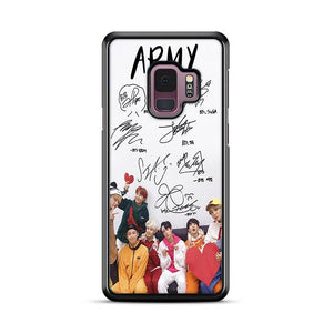 Army BTS Signature Samsung Galaxy S9 HÜLLE