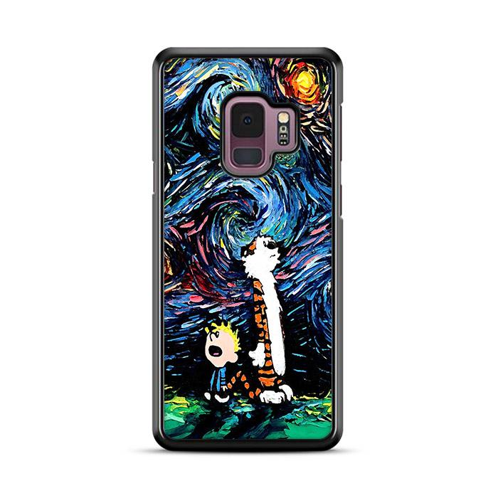 Calvin and Hobbes Starry Night Samsung Galaxy S9 HÜLLE