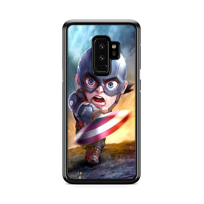 Chibi Fancy Captain America Samsung Galaxy S9 Plus HÜLLE