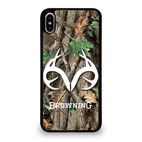 coque custodia cover fundas HÜLLE iphone 11 pro max 5 6 7 8 plus x xs xr se2020 C29513 REALTREE CAMO BROWNING iPhone XS Max Case