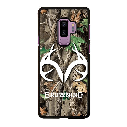 coque custodia cover fundas HÜLLE j3 J5 J6 s20 s10 s9 s8 s7 s6 s5 plus edge D39411 REALTREE CAMO BROWNING Samsung Galaxy S9 Plus Case