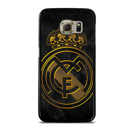 coque custodia cover fundas HÜLLE j3 J5 J6 s20 s10 s9 s8 s7 s6 s5 plus edge D39389 REAL MADRID GOLD Samsung Galaxy S6 Case