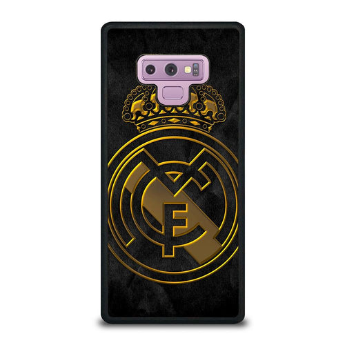 coque custodia cover fundas HÜLLE j3 J5 J6 s20 s10 s9 s8 s7 s6 s5 plus edge D39384 REAL MADRID GOLD Samsung Galaxy Note 9 Case