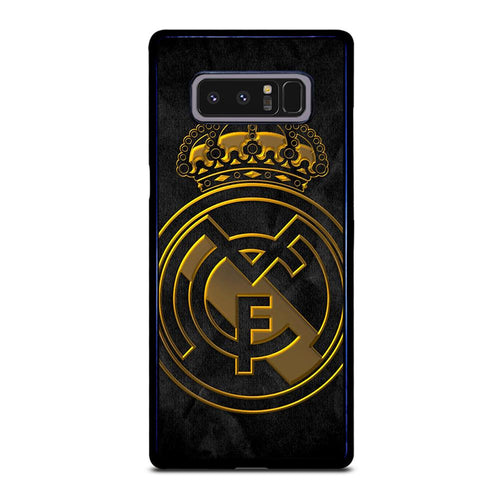 coque custodia cover fundas HÜLLE j3 J5 J6 s20 s10 s9 s8 s7 s6 s5 plus edge D39383 REAL MADRID GOLD Samsung Galaxy Note 8 Case