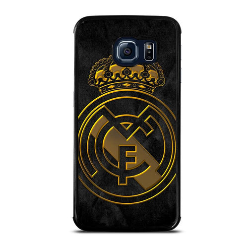 coque custodia cover fundas HÜLLE j3 J5 J6 s20 s10 s9 s8 s7 s6 s5 plus edge D39390 REAL MADRID GOLD Samsung Galaxy S6 Edge Case