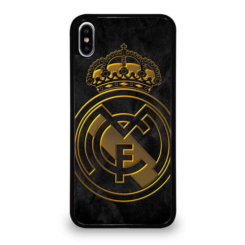 coque custodia cover fundas HÜLLE iphone 11 pro max 5 6 7 8 plus x xs xr se2020 C29493 REAL MADRID GOLD iPhone XS Max Case