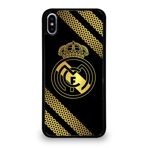 coque custodia cover fundas HÜLLE iphone 11 pro max 5 6 7 8 plus x xs xr se2020 C29503 REAL MADRID GOLD NEW iPhone XS Max Case