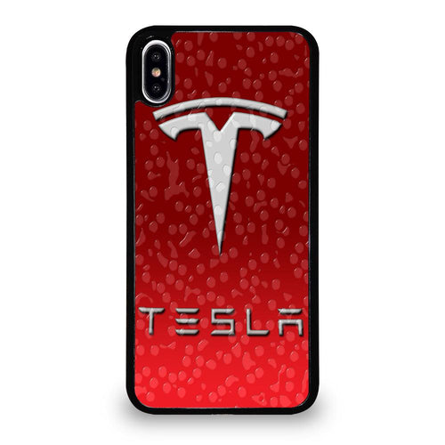 coque custodia cover fundas HÜLLE iphone 11 pro max 5 6 7 8 plus x xs xr se2020 C29544 RED TESLA EMBLEM LOGO WATER iPhone XS Max Case