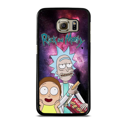 coque custodia cover fundas HÜLLE j3 J5 J6 s20 s10 s9 s8 s7 s6 s5 plus edge D39608 RICK AND MORTY NEBULA Samsung Galaxy S6 Case