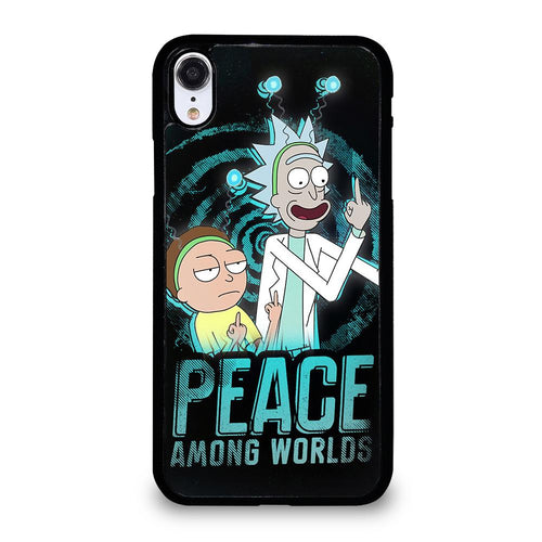 coque custodia cover fundas HÜLLE iphone 11 pro max 5 6 7 8 plus x xs xr se2020 C29665 RICK AND MORTY PEACE AMONG WORLDS iPhone XR Case