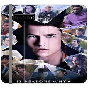 13 Reasons Why Cast Samsung Galaxy S10 Plus Flip HÜLLE