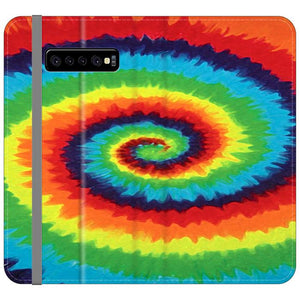 Colorful Tie Dye Samsung Galaxy S10 Flip HÜLLE