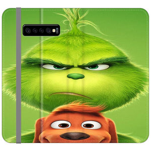 The Grinch Poster Samsung Galaxy S10 Plus Flip HÜLLE
