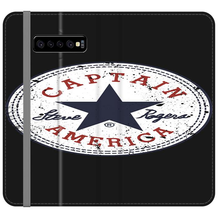 Captain America All Stars Samsung Galaxy S10 Plus Flip HÜLLE