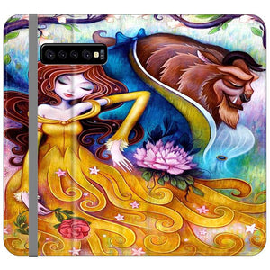 Art Beauty and The Beast Samsung Galaxy S10 Plus Flip HÜLLE