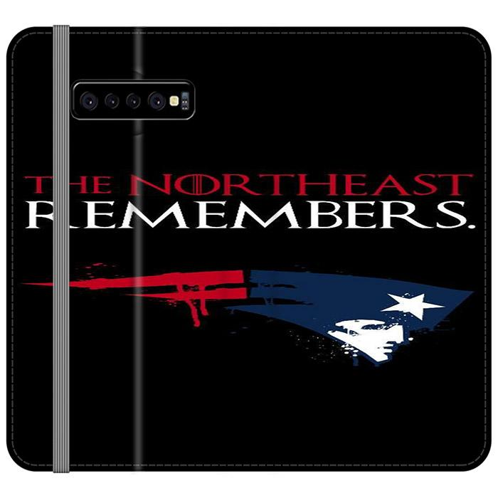 The Northeast Remembers Patriots Samsung Galaxy S10 Flip HÜLLE