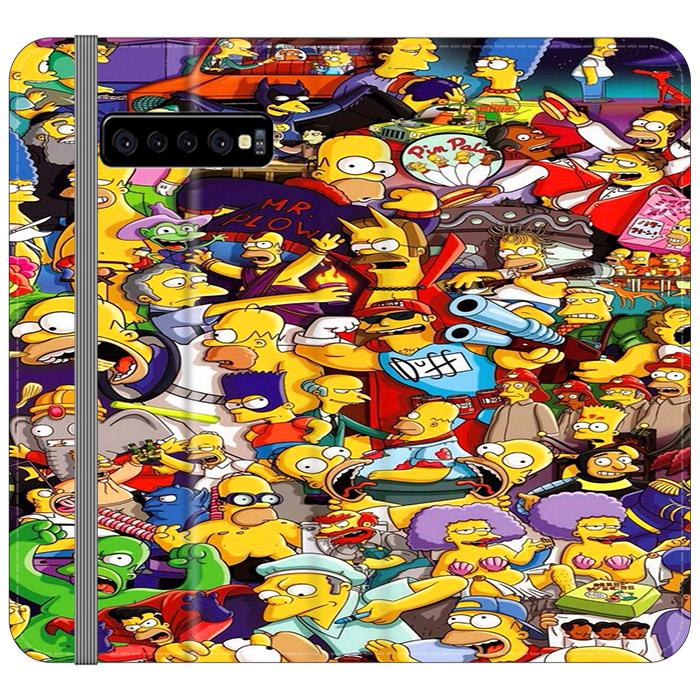 All Simpson Characters Samsung Galaxy S10 Flip HÜLLE
